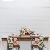 Rustic Barn Wedding Reception with Colorful Citrus Shades