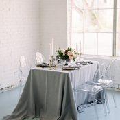 Modern Romance Warehouse Wedding Reception