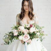 Modern Romance Bride with a Blush Bouquet