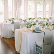 Elegant Wine Country Wedding Reception in Silver and White
