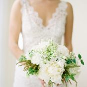 Green and White Summer Peony Bouquet