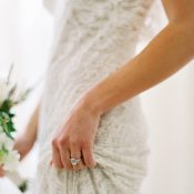 Bride with a Vintage Engagement Ring