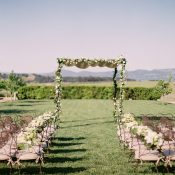 Elegant Organic Napa Valley Wedding Ceremony