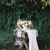 Vintage Sweetheart Table for an Enchanted Garden Wedding