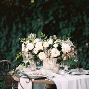 Candlelight Sweetheart Table for a Vintage Garden Wedding