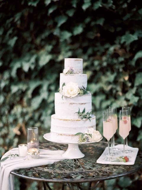 Enchanted garden wedding ideas in opal and lavender hey for Garden wedding cake designs