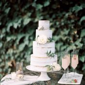 Pastel Wedding Cake and Cocktails