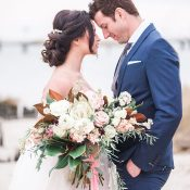 Elegant Coastal Wedding Photos with Dreamy Southern Charm