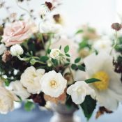 Summer Garden Flowers in a Vintage Centerpiece