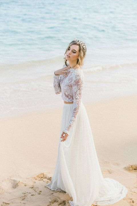 Beach Mermaid Wedding Dresses