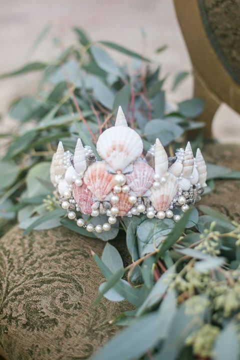 Seashell Crown for a Mermaid Bride