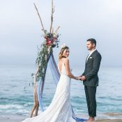 Bohemian Coastal Wedding Ceremony fit for a Mermaid Bride
