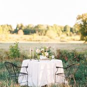 Rustic Vintage Sweetheart Table for a Classic New England Farm Wedding