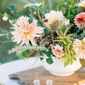 Rustic Farm Wedding Centerpiece