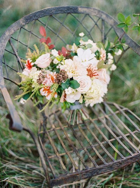 Rustic Fall Bouquet for a Farm Wedding