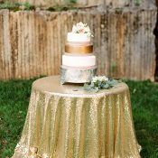 Gold Glitter Wedding Cake Table