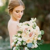 Peach and Blush Bouquet for an Enchanted Forest Wedding