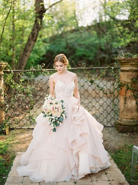 Enchanted Forest Blush Bridal Shoot | Hey Wedding Lady