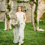Dreamy Floral Print Bridesmaid Dress
