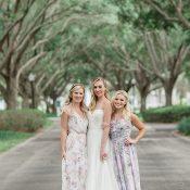 Sweet Floral Print Bridesmaid Dresses