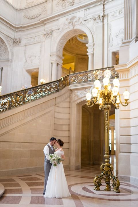 Romantic City Hall Wedding Photos In San Francisco