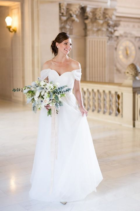 Wedding Dresses Registry Office 96 Simple Gorgeous Off the Shoulder
