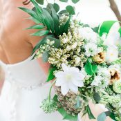 Modern Greenery Bouquet for a Romantic Woodland Wedding