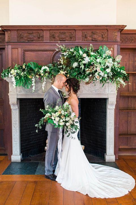 Organic Decor modern greenery decor for an organic wedding - hey wedding lady