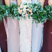 Gorgeous Jewel Tone Bridesmaid Dresses for a Fall Ranch Wedding