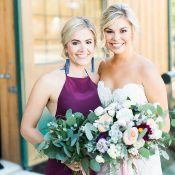 Stylish Modern Ranch Wedding with Jewel Tones