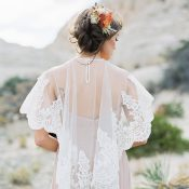 Vintage Lace Bridal Cape