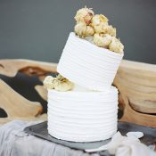 Topsy Turvy Cake with Dried Flowers
