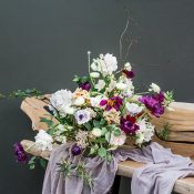 Plum Colored Fall Centerpiece