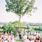 Summer Greenery Wedding Ceremony on the River