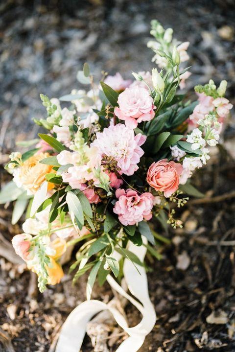 Citrus Inspired Summer Desert Bouquet