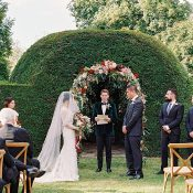 Wedding Ceremony in the Gardens of a French Chateau