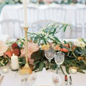 Floral Garland with Vintage Gold Decor
