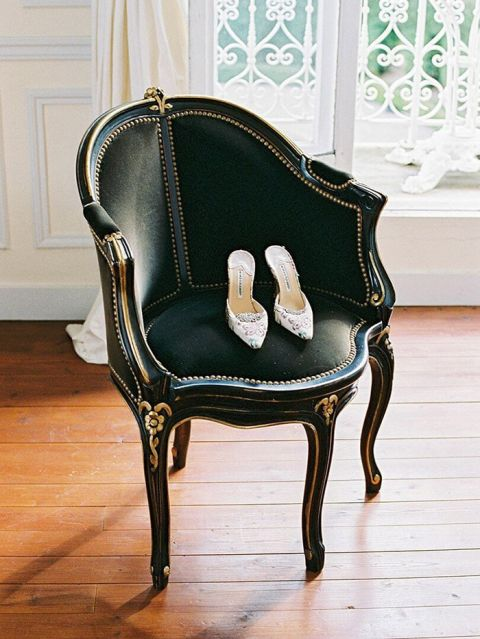 Elegant Vintage Black Chair