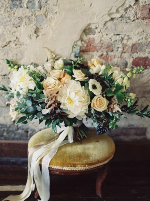 Organic Bouquet in Fall Neutrals