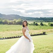 Bridal Photo with a Dramatic Train