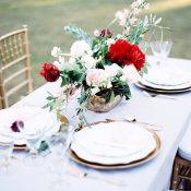 White and Gold Sweetheart Table