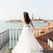 Gorgeous Rooftop Wedding Photos in Venice