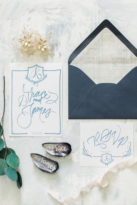 Custom Crest Wedding Invitations