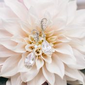 Crystal Drop Bridal Earrings
