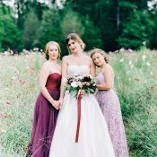 Luxe Jewel Tone Bridesmaid Dresses for a Regal Garden Wedding
