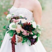 Burgundy and Berry Bouquet