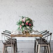 Wood and Metal Rustic Industrial Wedding Decor