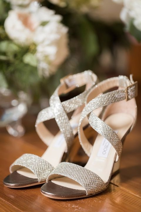 Glam Gold Wedding Shoes