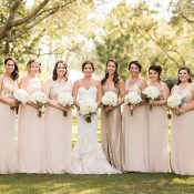 Gold and Champagne Bridesmaid Dresses