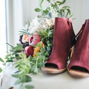 Burgundy Peep Toe Booties